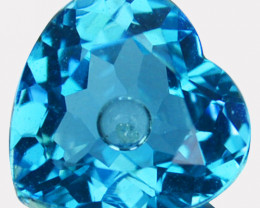 3.42 Cts Doublet Topaz & White Sapphire Inside Heart Brazil & Sri Lanka