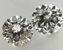 0.32 ct , Pair Round Diamonds , Light Color Diamonds , WR1226