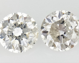 0.33 CTS , Pair Round Diamonds , Light Color Diamonds , WR1228