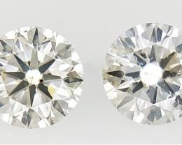 0.30 ct , Pair Round Diamonds , Light Color Diamonds , WR1230