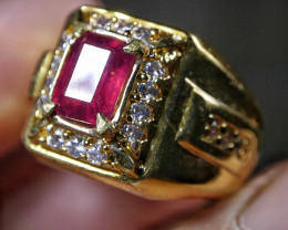 50.40 CT Pretty Octagon Mozambique Ruby Ring Jewelry