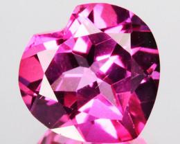 ~PRETTY~ 3.24 Cts Candy Pink Natural Topaz 9mm Heart Cut Brazil