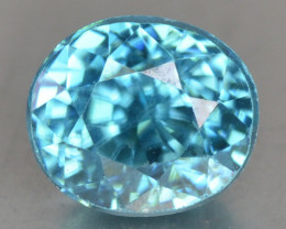 1.46 Cts Blue Zircon Natural Loose Gemstone