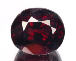 1.43 Cts Unheated Natural Cherry Red Rhodolite Garnet Gemstone