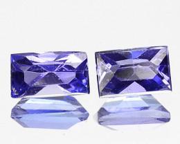 0.31 Cts 2 Pcs Amazing Rare Purple Blue Color Natural Iolite Gemstone