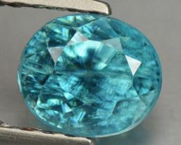 1.25 Cts Blue Zircon Natural Loose Gemstone