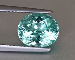 Super Sparkling Sea foam Green Tourmaline - Oval 3.42ct - Namibia - Eye Cle