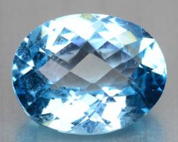 3.10  Cts Blue Topaz Natural Loose Gemstone