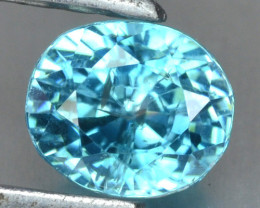 1.65 Cts Blue Zircon Natural Loose Gemstone