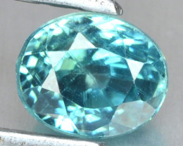 1.35 Cts Blue Zircon Natural Loose Gemstone