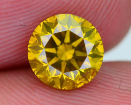 AAA Grade 1.06 ct Diamond Yellow Champagne Color SKU-24