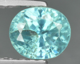 1.23  Cts Blue Zircon Natural Loose Gemstone
