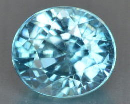 1.70 Cts Blue Zircon Natural Loose Gemstone