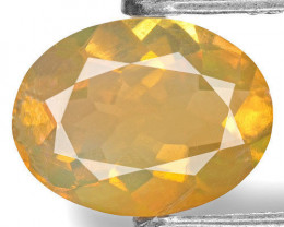 Ethiopia Opal, 0.75 Carats, Orangy Yellow Oval