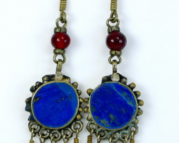 47.80 CT Unheated ~ Natural Blue  color Lapis Earrings