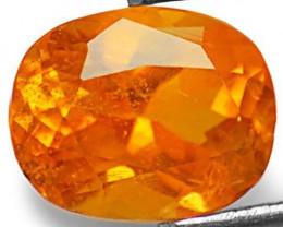 Tanzania Clinohumite, 0.85 Carats, Fanta Orange Oval