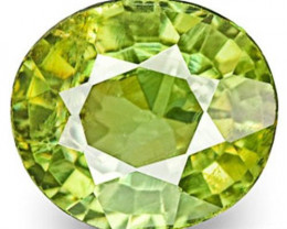 Namibia Demantoid Garnet, 0.63 Carats, Vivid Green Oval