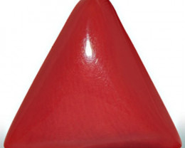 Italy Coral, 4.68 Carats, Orangy Red Triangular