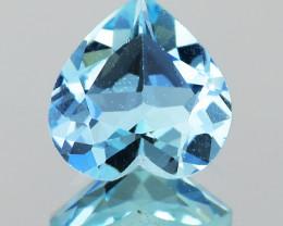6.10 mm Heart 0.60ct Blue Aquamarine [VVS]