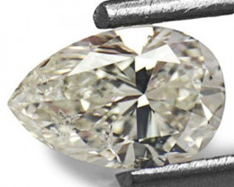 """Guinea Diamond, 0.51 Carats, J (On a Scale of """"D"""" to """"Z"""") Pear"""