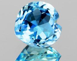 5.90 mm Heart 0.65ct Blue Aquamarine [VVS]