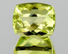 6x5 mm Cushion 1.18ct Golden Green Diaspore [VVS]
