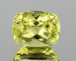 6x5 mm Cushion 0.92ct Golden Green Diaspore [SI]