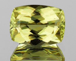 7x5 mm Cushion 0.91ct Golden Green Diaspore [VVS]