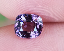 NO TREAT 1.02 CTS NATURAL STUNNING ANTIQUE CUSHION CUT PURPLE SPINEL BURMA