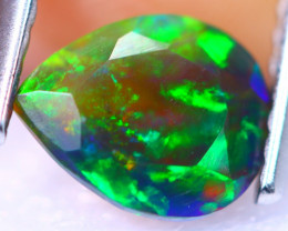 0.66cts Natural Ethiopain Smoked Faceted Welo Opal / RD1273