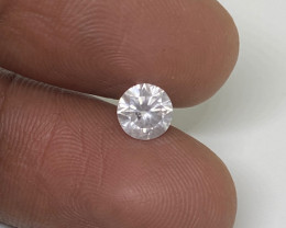 (6) Certified $2200 Fiery 0.66ct I1 White Diamond Round  Natural