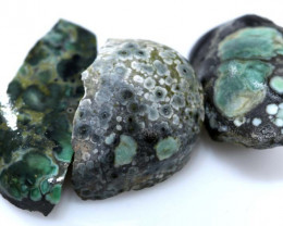 24- CTS- BLUEBOY VARISCITE  ROUGH  PARCEL( 3PCS) RG-5071