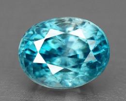 1.41 Cts Blue Zircon Natural Loose Gemstone