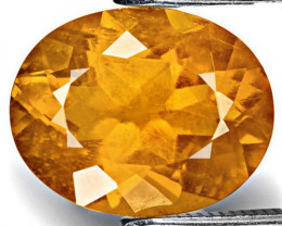 Tajikistan Clinohumite, 2.77 Carats, Lustrous Golden Orange Oval