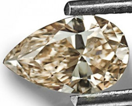 South Africa Diamond, 0.50 Carats, Light Brown (Even) Pear