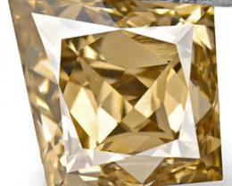 Australia Fancy Color Diamond, 0.35 Carats, Fancy Golden Brown Fancy Cut