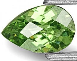 Namibia Demantoid Garnet, 0.61 Carats, Vivid Green Pear
