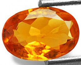 Tanzania Clinohumite, 1.02 Carats, Orange Oval