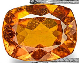 Tanzania Clinohumite, 0.76 Carats, Deep Orange Cushion