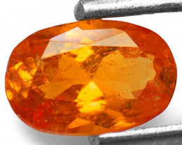 Tanzania Clinohumite, 0.68 Carats, Deep Orange Oval