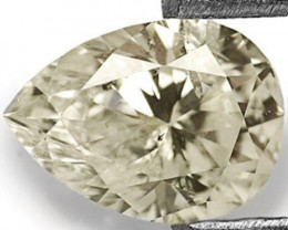 "Guinea Fancy Color Diamond, 0.40 Carats, L (On a Scale of ""D"" to ""Z"") Pear"