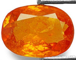Tanzania Clinohumite, 0.82 Carats, Deep Orange Oval