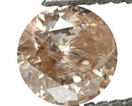 Guinea Diamond, 0.92 Carats, Medium Brown Round