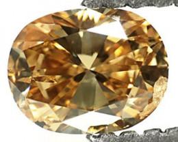 Guinea Fancy Color Diamond, 0.46 Carats, Greenish Yellowish Brown Oval