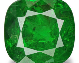 Kenya Tsavorite Garnet, 0.85 Carats, Chrome Green Cushion