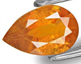 Tajikistan Clinohumite, 1.89 Carats, Yellowish Orange Pear