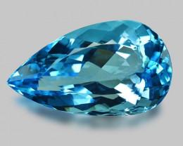 63.66 CTS Amazing Rare Swiss Blue Natural Topaz Gemstone