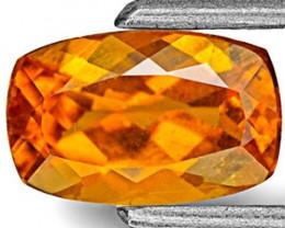 Tanzania Clinohumite, 0.98 Carats, Deep Yellowish Orange Cushion