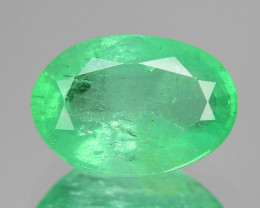 1.38 Cts Natural Earth Mined Green Color Colombian Emerald Gemstone