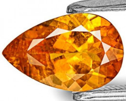 Tanzania Clinohumite, 1.48 Carats, Vivid Fanta Orange Pear